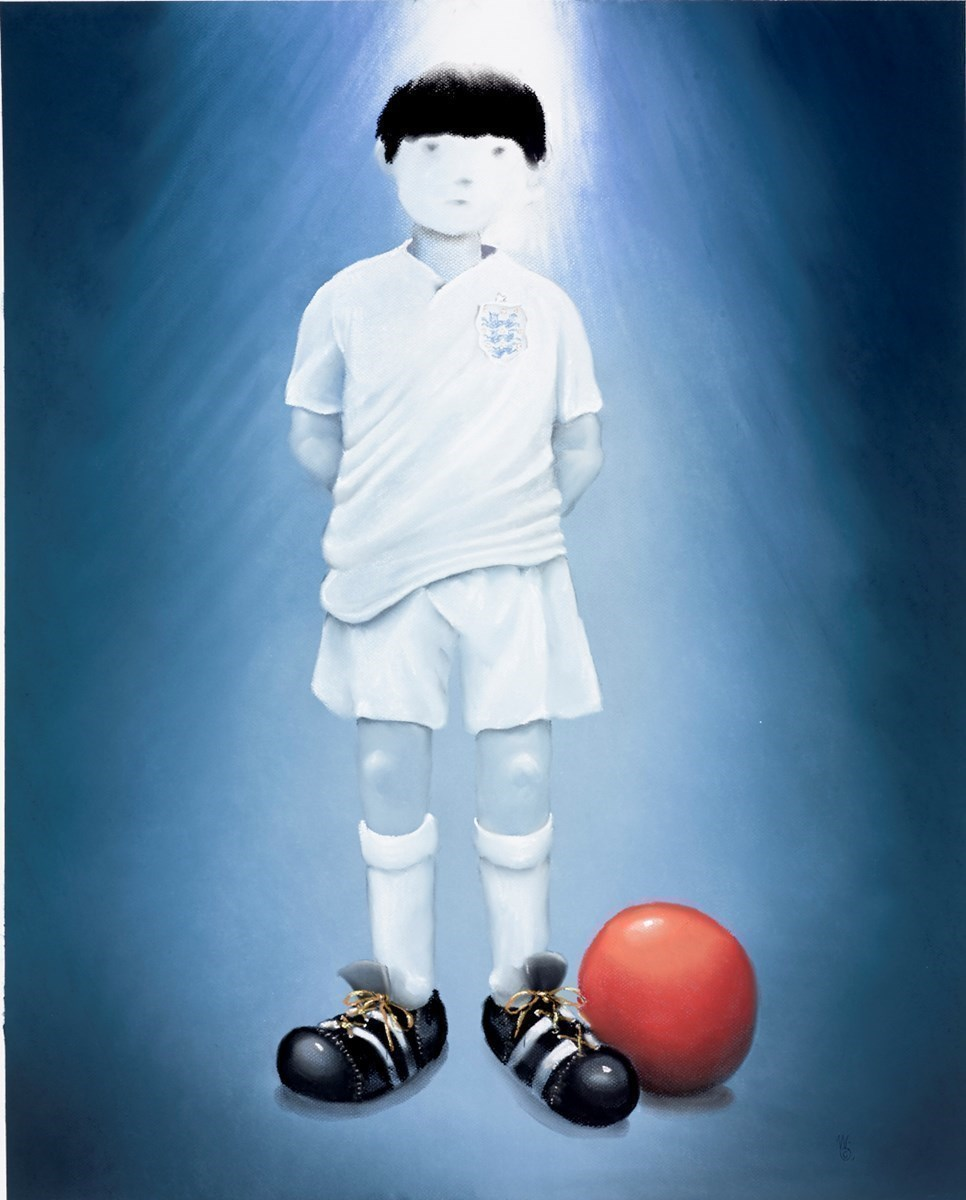 Bobby Dazzler by Mackenzie Thorpe -  sized 28x34 inches. Available from Whitewall Galleries